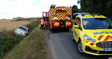 Lillers: une femme coincée sous sa voiture à Haut-Rieux