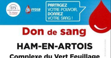 Ham-en-Artois : Le don du sang s'installe au village