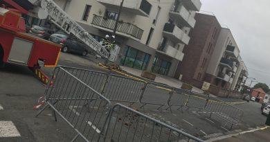 Lillers: une cheminée menace de s'effondrer rue de la Gare